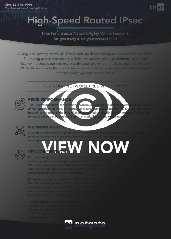 IPsec one pager view now