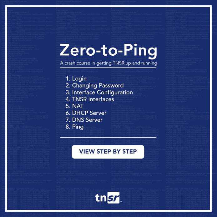 Zero to Ping