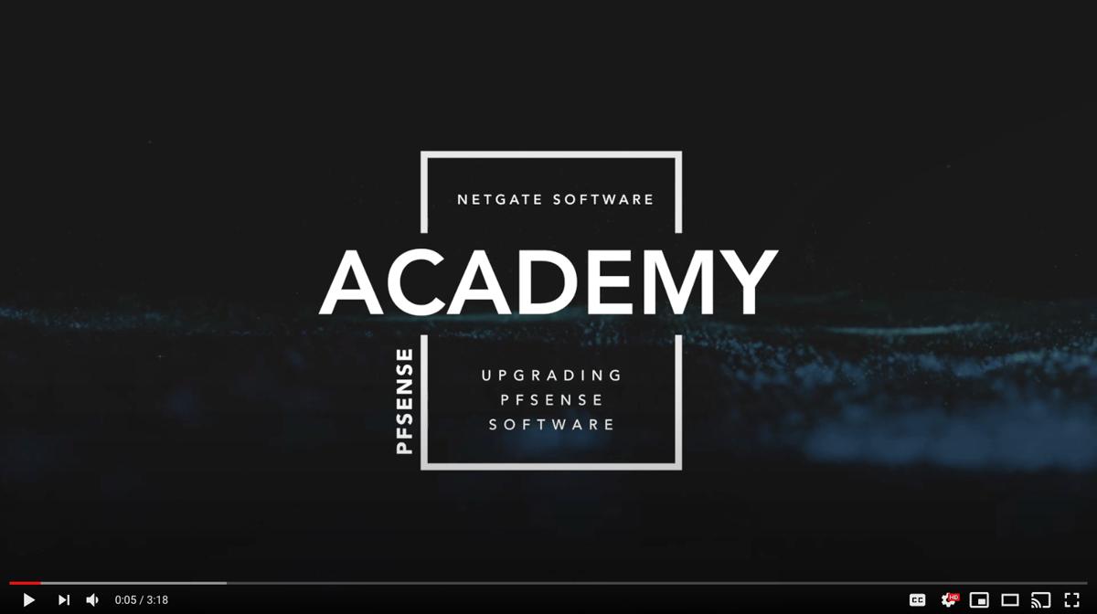 Upgrading pfSense software thumbnail