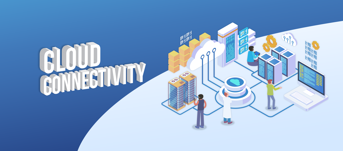 Cloud Connectivity Isometric background